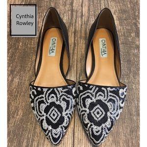 Cynthia Rowley Rasta Flats w/Sequins